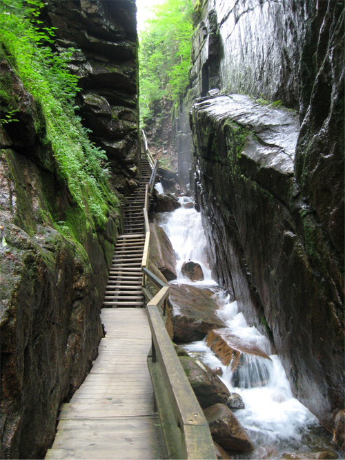 Stairway, Franconia Notch, New Hampshire