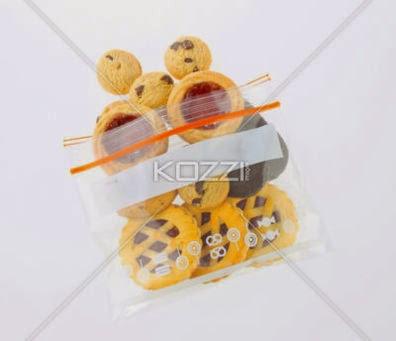 Cookies In Zipper Bag Isolated