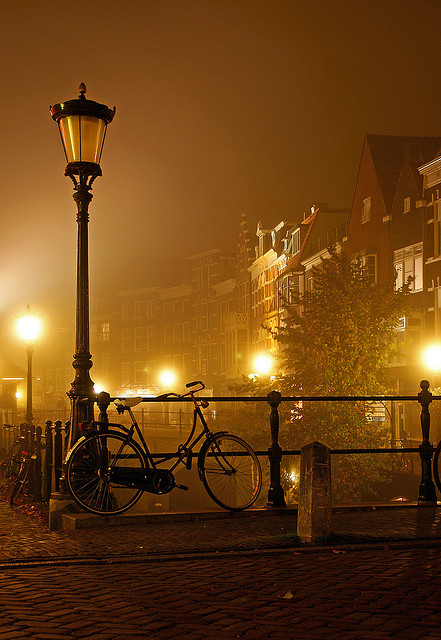 Foggy Night, Utrecht, The Netherlands
