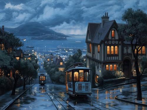 Rainy Night, San Francisco, California